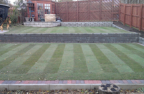 Turfing, garden Wall, Fencing, Paving Project